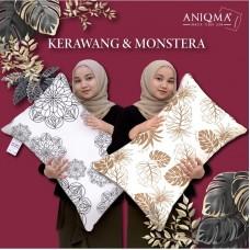 JAZALO HOME - ANIQMA Head Pillow for Adult and Kids - Bantal Kepala, Sicomel & Jumbo - Kerawang & Monstera Edition