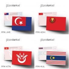 poskankad Malaysian State Flag Postcard (MOQ 50)