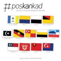 poskankad Malaysian State Flag Postcard